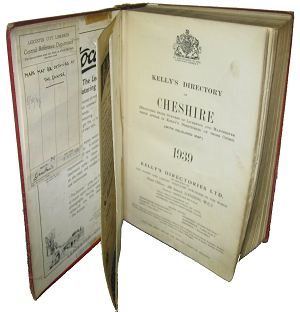 Kelly's Directory Of Cheshire, 1939