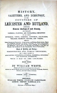 White's 1863 History, Gazeteer & Directory of Leicestershire & Rutland