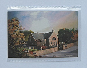 Postcard protector pocket