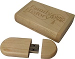Family History 16GB USB Storage in Wood Presentation  Box